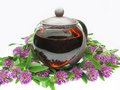 Free Teapot With Floral Tea Royalty Free Stock Image - 15027346