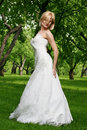 Free Beautiful Bride In The Park Stock Photography - 15028792