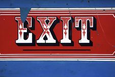 Free Carnival Exit Sign Royalty Free Stock Photography - 15020177
