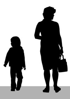 Free Women And Children Boy Stock Images - 15020364
