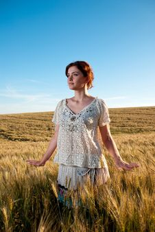 Free Wheat Field Woman Stock Photo - 15020540