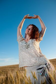 Free Young Woman At Wheat Royalty Free Stock Photo - 15020685