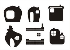 Free Home Icons - Vector Royalty Free Stock Photography - 15021407