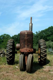 Old Rusty Farm Tractor Royalty Free Stock Photography