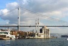 Free Fatih Sultan Mehmet Bridge Stock Image - 15021631