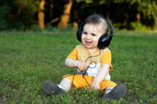 Free Little Boy With Headphones Horizontal Stock Photos - 15021673