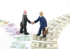 Free Businessman Figures Shaking Hands. Stock Photo - 15022030