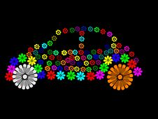 Car Flower Stock Photo