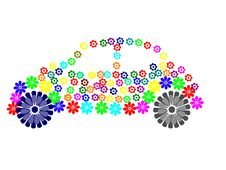 Car Flower Royalty Free Stock Images