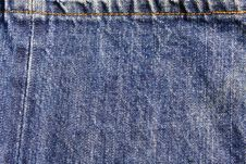 Free End Seam Jeans Texture Royalty Free Stock Images - 15024029