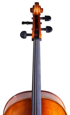 Cello S Scroll Stock Photography