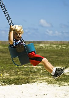 On The Swing Royalty Free Stock Photo