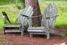 Welcoming Old Chair Royalty Free Stock Photography