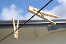Free Clothespins Royalty Free Stock Photo - 15025395