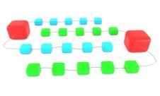 Free Linked Cubes Stock Image - 15025541