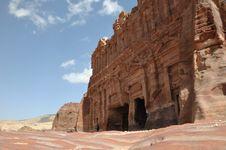 Palace Tomb At Petra Royalty Free Stock Photography