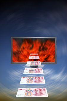 Free Money And Moniter Stock Photo - 15025590