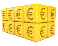 Free Cubes With Euro Sign Stock Photo - 15025600