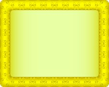Free Gold Picture Frame Royalty Free Stock Photography - 15026667