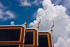Free Clay Tiles On Thai Style Roof Royalty Free Stock Image - 15026886