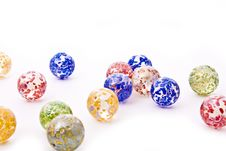 Colorful Decorative Glass Balls Royalty Free Stock Photo