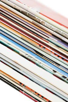 Pile Of Fresh Magazines Royalty Free Stock Photos