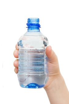 Free Hand With Bottle Of Water Royalty Free Stock Photo - 15028925