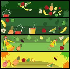 Free Fruits Banners Stock Image - 15029141