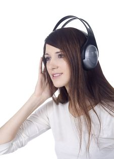 Free Young Woman In Headphones Royalty Free Stock Images - 15029249