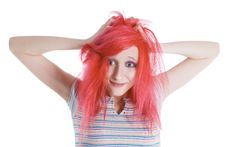 Free Surprised Girl With Red Hair Royalty Free Stock Photo - 15029675