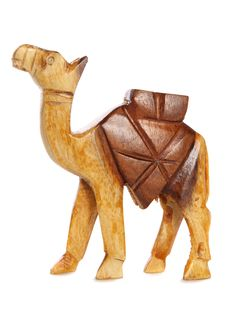 Free Wooden Camel Carving Cutout Royalty Free Stock Image - 15029776