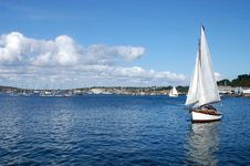 Free A Sailboat Enters The Harbor Camaret-France Royalty Free Stock Photo - 15029965