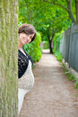 Free Pregnant Woman Near Tree Stock Photography - 15030492