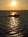 Free Commercial Fishing Boat At Sunset Royalty Free Stock Photo - 15035875