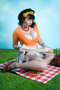 Free Pinup Girl Picnic Stock Image - 15037491