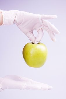 Free Scientist Holding Apple Stock Images - 15030084