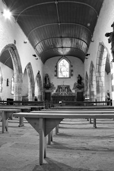 Free Old Chapel Interior Stock Photography - 15031082
