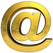 Free Golden Email Symbol Stock Photo - 15031160
