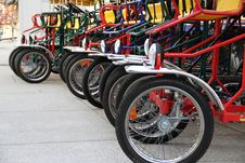 Free Bicycle Row Royalty Free Stock Image - 15031616