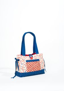 Patriotic Tote Purse. Royalty Free Stock Photos