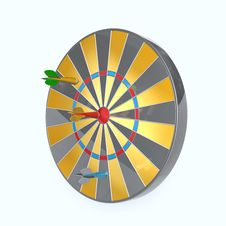 Free Dart Board Royalty Free Stock Photography - 15032157