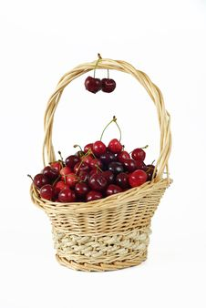 Free Basket With Cherries Stock Photos - 15032503