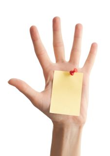 Female Hand With Blank Note Royalty Free Stock Photography