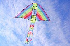 Free Bright Multicolored Kite In Blue Sky Stock Image - 15033021