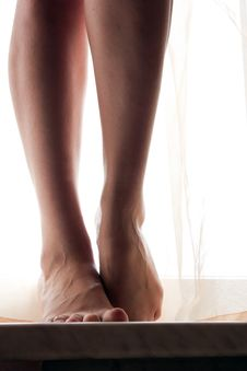 Foot Girl Royalty Free Stock Images