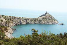 Rocks Of The Black Sea Coast Stock Photography