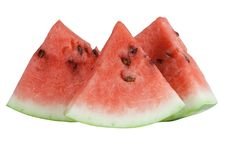 Free Three Segments Of The Red Watermelon Royalty Free Stock Photo - 15033315