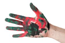 Free Hands Painted With Watercolors Stock Image - 15033381
