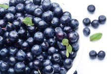 Crockery With Blueberries. Stock Photography