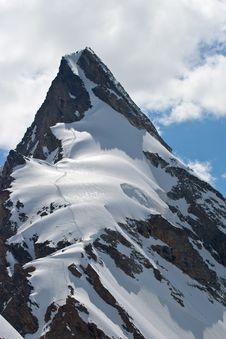 Glacier In Summer, Caucasus Royalty Free Stock Images